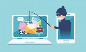 Animated cartoon of phishing